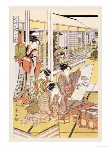 Painting in the House by Kitagawa Utamaro