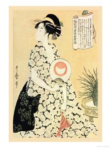 Poetry for a Beautiful Maiden by Kitagawa Utamaro