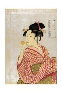 Poppen O Fuku Musume by Kitagawa Utamaro