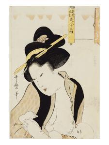 Portrait of a Mother Breastfeeding Her Child by Kitagawa Utamaro