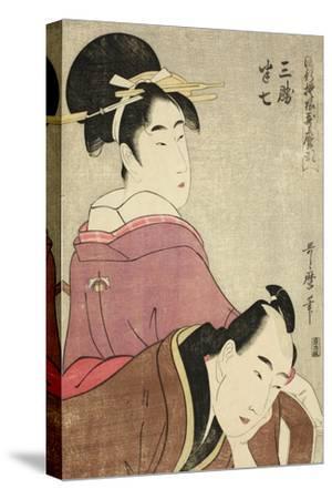 Sankatsu and Hanshichi, from the Series Fashionable Patterns in Utamaro Style, C.1798-99