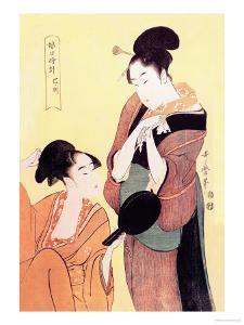 Sundial Maidens: The Hour of the Snake by Kitagawa Utamaro