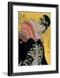 Takigawa from the Tea-House, Ogi by Kitagawa Utamaro