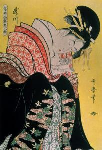 Takigawa from the Tea-House, Ogi by Kitagawa Utamaro