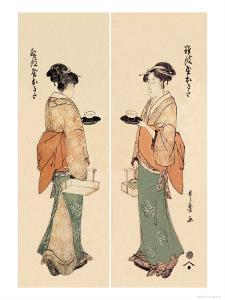 Tea House Girl by Kitagawa Utamaro
