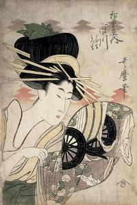 The Courtesan Ichikawa of the Matsuba Establishment, Late 1790s by Kitagawa Utamaro