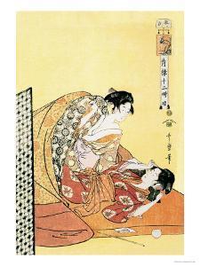 The Hour of the Dragon by Kitagawa Utamaro