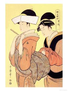 The Hour of the Monkey by Kitagawa Utamaro