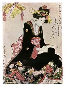 The Madonna of the Paper Stork by Kitagawa Utamaro