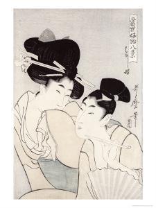 The Pleasure of Conversation, from the Series Tosei Kobutsu Hakkei by Kitagawa Utamaro