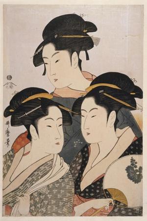 Three Beauties of the Present Day (Toji San Biji) by Kitagawa Utamaro