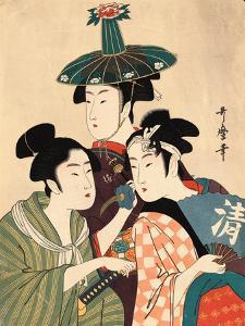 Three Young Men or Women, Between 1780 and 1806 by Kitagawa Utamaro