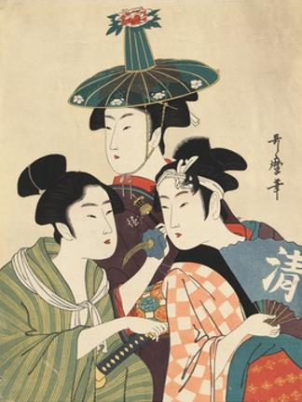Three Young Men or Women by Kitagawa Utamaro