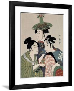 Tôjin, shishi, sumô, 1793 by Kitagawa Utamaro