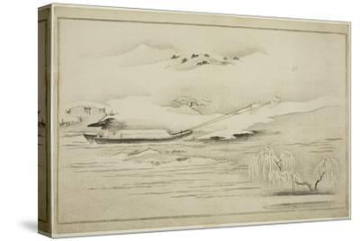 Towing a Barge in the Snow, from the Album the Silver World, 1790
