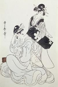 Two Female Figures by Kitagawa Utamaro
