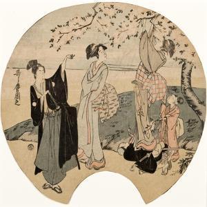 Viewing Cherry Blossoms, 1794-96 by Kitagawa Utamaro