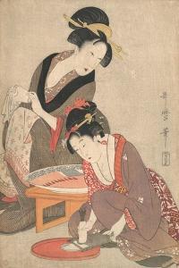 Woman Preparing Sashimi, c.1806 by Kitagawa Utamaro