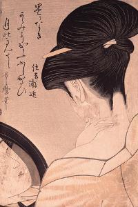 Woman Putting on Make-Up by Kitagawa Utamaro