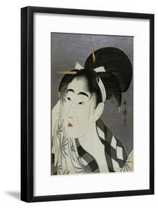Woman Wiping Sweat, 1798 by Kitagawa Utamaro