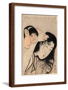 Yamauba No Kami O Tsukamu Kintaro by Kitagawa Utamaro