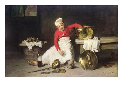 Kitchen-Boy, 1893-Joseph Bail-Giclee Print