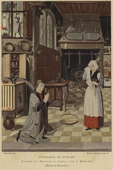 Kitchen Interior-Jan Mostaert-Giclee Print
