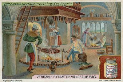 Kitchen of a Medieval Castle--Giclee Print