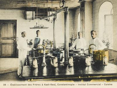 Kitchen of the Commercial Religious Institute, Istanbul--Photographic Print