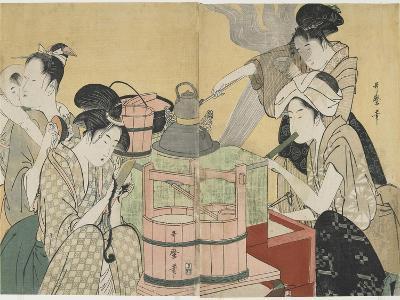 Kitchen Scene, 1794-1795-Kitagawa Utamaro-Giclee Print