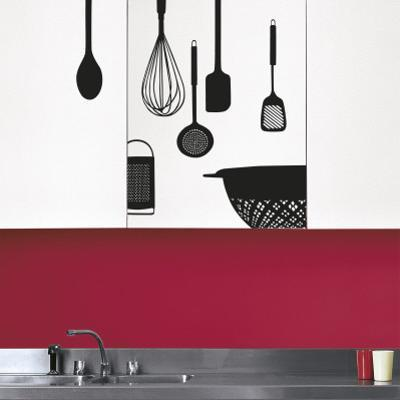 Kitchen utensils (Water Resistant Decal)