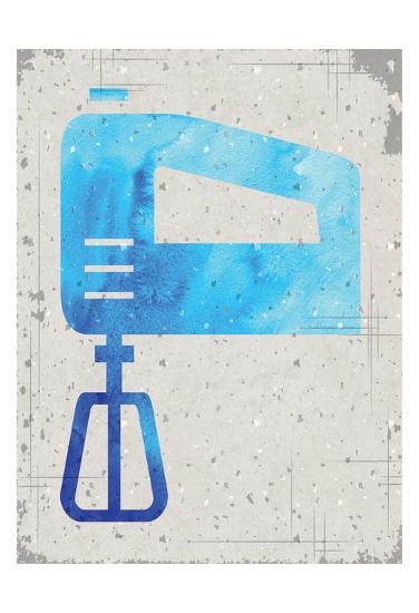 Kitchen Watercolor Brights Ragged 02-Melody Hogan-Art Print
