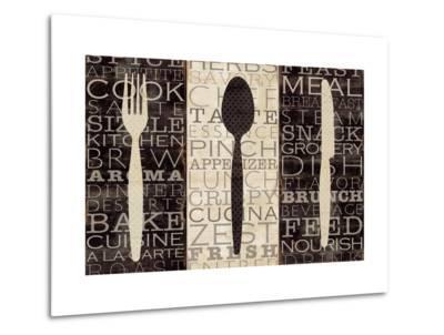 Kitchen Words Trio-Pela Design-Metal Print