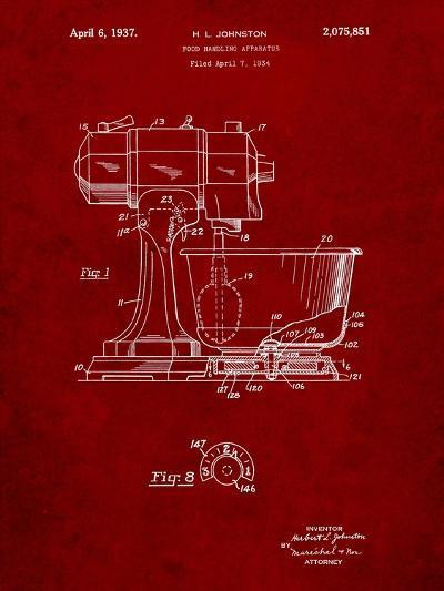 Kitchenaid Kitchen Mixer Patent-Cole Borders-Art Print