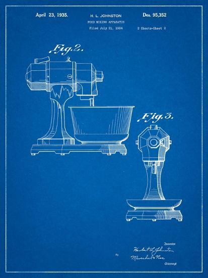 Kitchenaid Mixer Patent-Cole Borders-Art Print