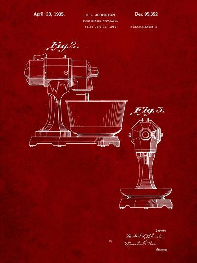 Kitchenaid Mixer Patent-Cole Borders-Art Print