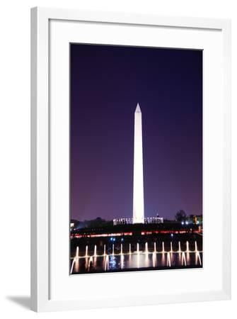 Kite and George Washington Monument.-Songquan Deng-Framed Photographic Print