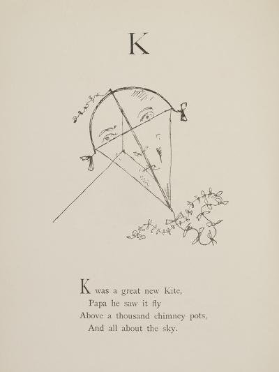 Kite Illustrations and Verses From Nonsense Alphabets Drawn and Written by Edward Lear.-Edward Lear-Giclee Print