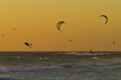 Kite Surfers at Sunset-Ralph Lee Hopkins-Photographic Print