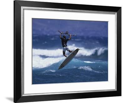 Kite Surfing--Framed Photographic Print