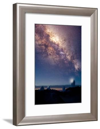 Kitt Peak Observatory And Milky Way-David Nunuk-Framed Photographic Print