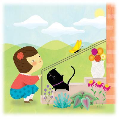 Kitten and Me - Humpty Dumpty-Sheree Boyd-Giclee Print