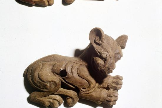 Kitten Carved wooden bridle-plate from Pazyryk, Altai Mountains, 5th century BC-4th century BC-Unknown-Giclee Print