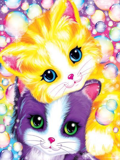 Kitten Cuddles-Lisa Frank-Art Print