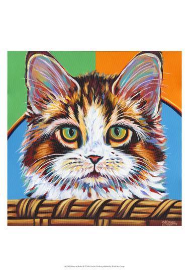 Kitten in Basket II-Carolee Vitaletti-Art Print