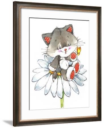 Kitten on a Flower-ZPR Int'L-Framed Giclee Print