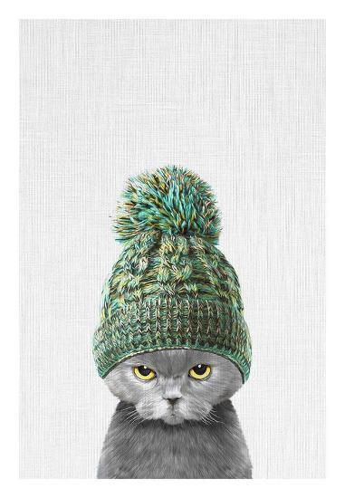 Kitten Wearing a Hat-Tai Prints-Art Print