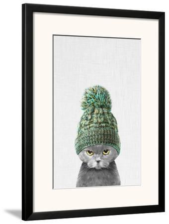Kitten Wearing a Hat-Tai Prints-Framed Art Print