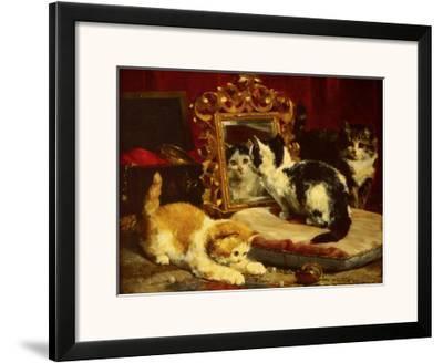 Kittens, 1893-Charles Van Den Eycken-Framed Art Print