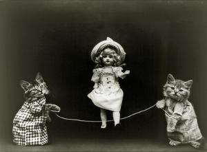 Kittens and a Doll Skipping, 1891
